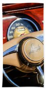 1941 Lincoln Continental Cabriolet V12 Steering Wheel Beach Towel