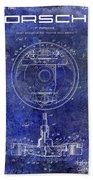 1941 Porsche Brake Mechanism Patent Blue  Beach Sheet