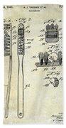 1941 Toothbrush Patent  Beach Towel
