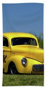 1941 Willys Coupe Dragster Beach Towel