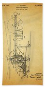 1943 Helicopter Patent Beach Towel