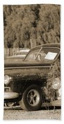 1946 Dodge In Sepia Beach Towel