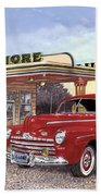 1946 Ford Deluxe Coupe Beach Towel