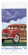 1946 Ford Woody Beach Towel