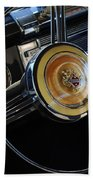 1947 Buick Eight Super Steering Wheel Beach Towel