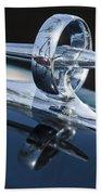 1947 Buick Roadmaster Hood Ornament 2 Beach Towel