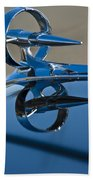 1947 Buick Roadmaster Hood Ornament Beach Towel