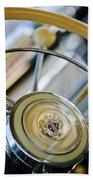 1947 Buick Roadmaster Steering Wheel Beach Towel