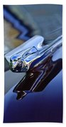 1947 Cadillac 62 Convertible Hood Ornament Beach Towel