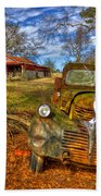 1947 Dodge Dump Truck Country Scene Art Beach Towel