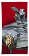 1947 Mg Tc Non-standard Hood Ornament Beach Towel