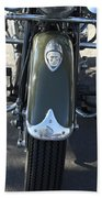 1948 Indian Chief Motorcycle Hood Ornament Beach Towel