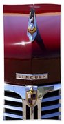 1948 Lincoln Continental Hood Ornament 3 Beach Towel