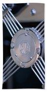 1948 Mg Tc Steering Wheel 2 Beach Towel