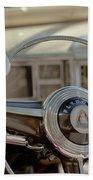 1948 Plymouth Deluxe Steering Wheel Beach Towel