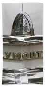 1948 Plymouth Hood Logo Beach Towel