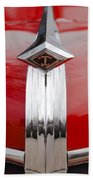 1949 Diamond T Truck Hood Ornament Beach Towel