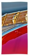 1949 Plymouth Hood Ornament Beach Towel by Jill Reger