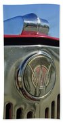 1949 Willys Jeepster Hood Ornament Beach Towel