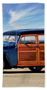 1949 Willys Woody Wagon I Beach Towel
