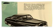 1950 Lincoln 6 Passenger Coupe Beach Towel