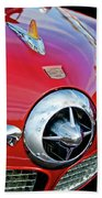 1950 Studebaker Champion Hood Ornament Beach Towel