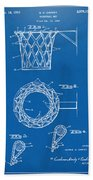 1951 Basketball Net Patent Artwork - Blueprint Beach Towel