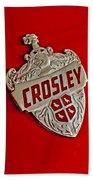 1951 Crosley Hood Emblem Beach Towel