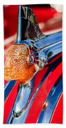 1951 Pontiac Chief Hood Ornament Beach Towel