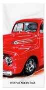1952 Ford Pick Up Truck Beach Towel