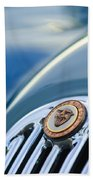 1952 Jaguar Hood Ornament Beach Towel