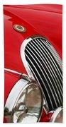 1952 Jaguar Xk 120 Grille Emblem Beach Towel