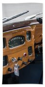 1952 Triumph Renown Limosine Instrument Panel Beach Towel