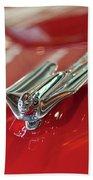 1953 Cadillac Eldorado Convertible Hood Ornament Beach Towel