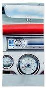 1954 Chevrolet Corvette Dashboard Beach Towel