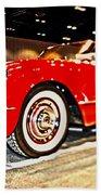 1954 Chevrolet Corvette Number 2 Beach Towel