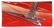 1954 Ford Cresline Sunliner Hood Ornament 2 Beach Towel