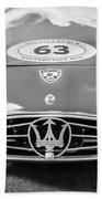 1954 Maserati A6 Gcs -0255bw Beach Towel