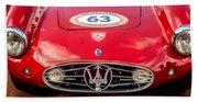 1954 Maserati A6 Gcs Grille -0255c Beach Towel