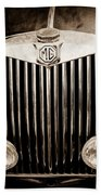 1954 Mg Tf Grille Emblem -0165s Beach Towel
