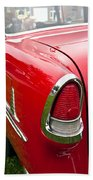 1955 Chevrolet Bel Air Tail Light Beach Towel