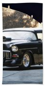 1955 Chevrolet Coupe 'sinister Chevy' Beach Towel