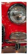 1955 Chevy Bel Air Headlight Beach Towel