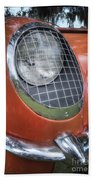 1955 Corvette Headlight Detail Beach Towel
