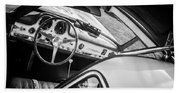 1955 Mercedes-benz 300sl Gullwing Steering Wheel - Race Car -0329bw Beach Towel