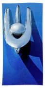 1955 Packard Clipper Hood Ornament 4 Beach Towel