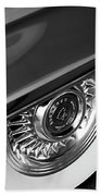 1956 Cadillac Eldorado Wheel Black And White Beach Towel