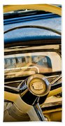 1956 Cadillac Steering Wheel Beach Towel