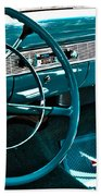 1956 Chevrolet Belair Interior Hdr No 1 Beach Towel