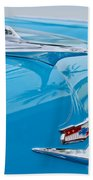1956 Chevrolet Belair Nomad Hood Ornament Beach Towel